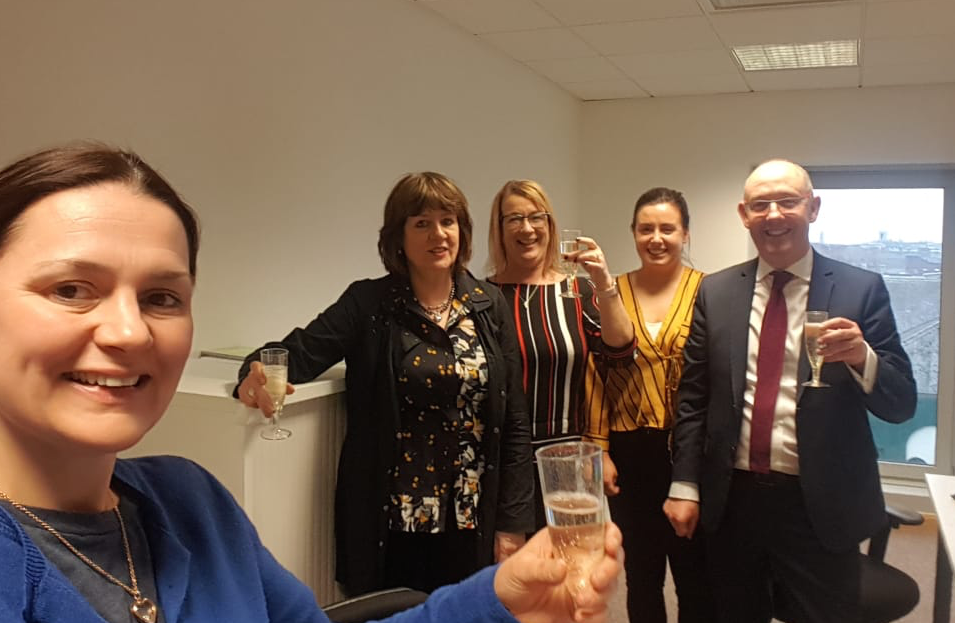 Celebrating the opening of the Dublin office in The Capel Buildings, Dublin, with new Partner Geraldine Keehan.
