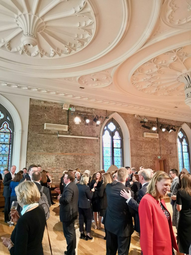 Caldwell & Robinson celebrates the opening of its Dublin office at Smock Alley Theatre.